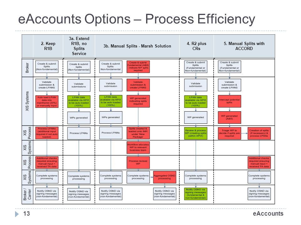 eAccounts eAccounts Options – Process Efficiency 13 2.