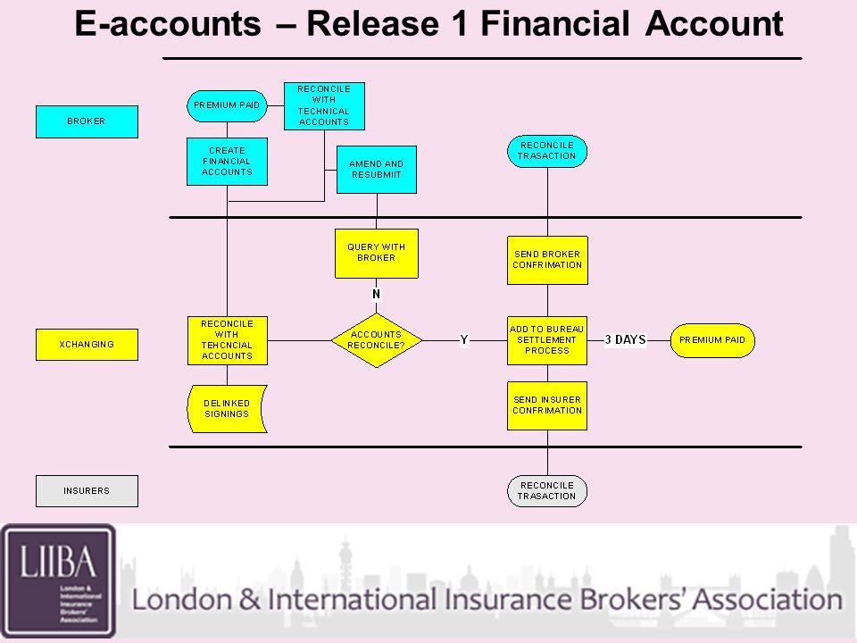 E-accounts – Release 2 Tech Account