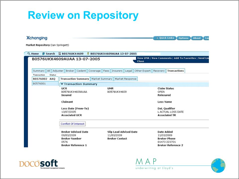 Review on Repository