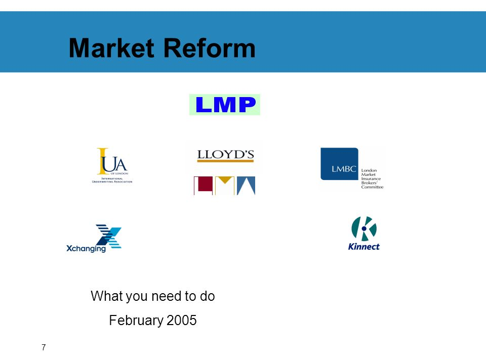 7 Market Reform What you need to do February 2005