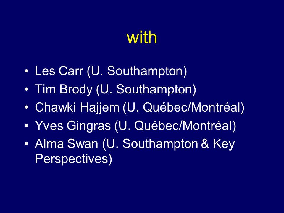 with Les Carr (U. Southampton) Tim Brody (U. Southampton) Chawki Hajjem (U.