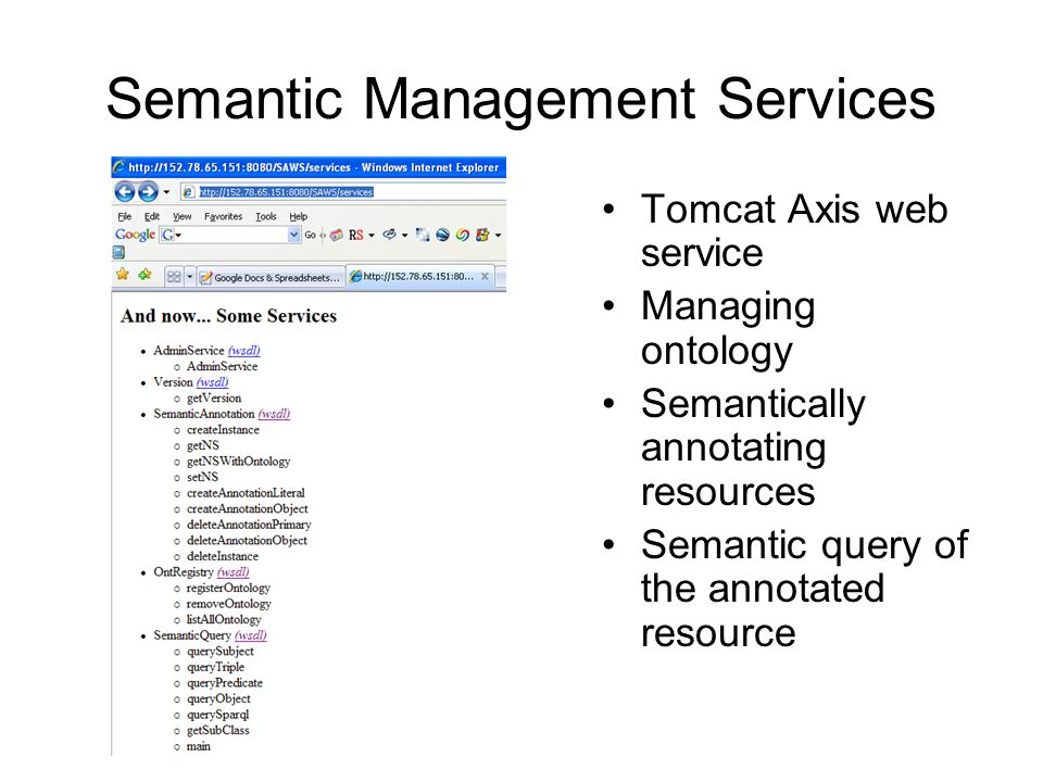 Sequence Diagram of using the semantic management services
