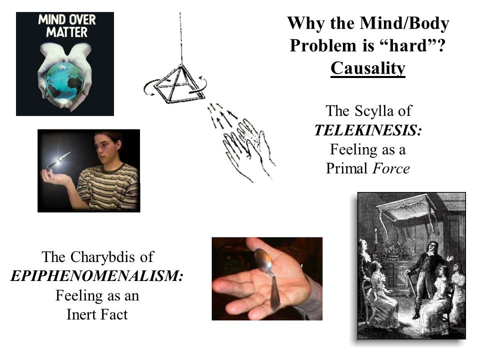 Why the Mind/Body Problem is hard? Causality The Scylla of TELEKINESIS: Feeling as a Primal Force The Charybdis of EPIPHENOMENALISM: Feeling as an Ine