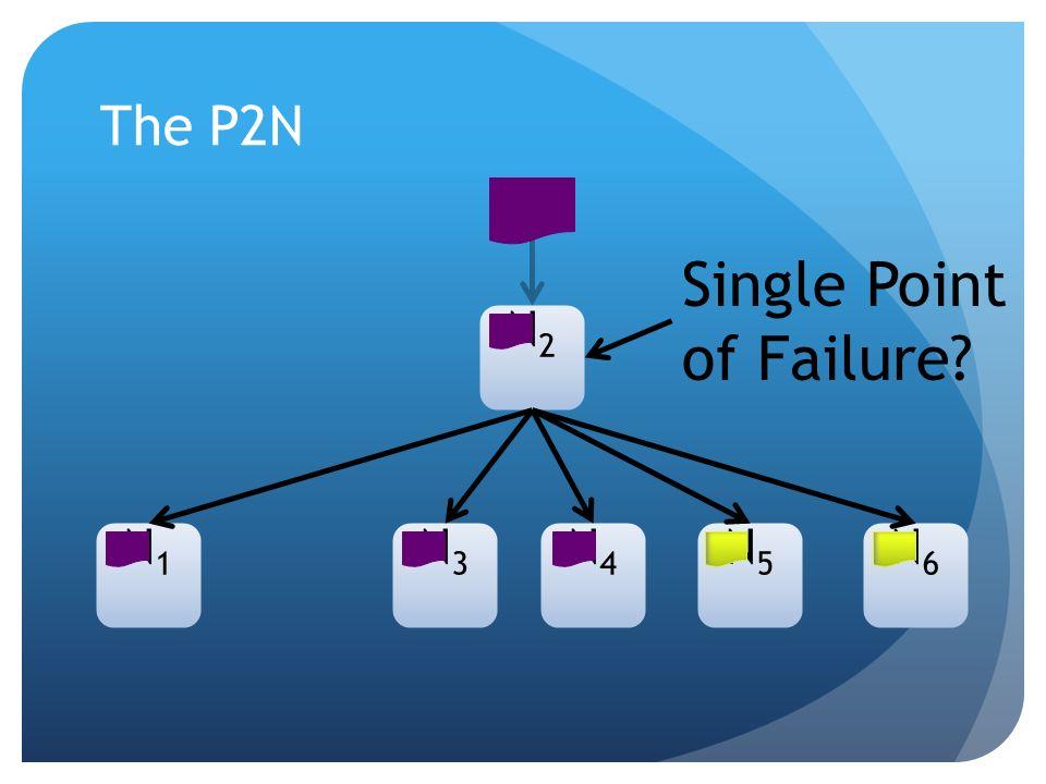 The P2N N1N1 N2N2 N3N3 N4N4 N5N5 N6N6 Single Point of Failure
