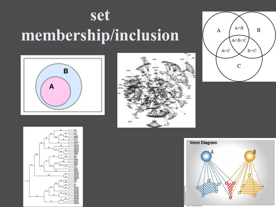 set membership/inclusion