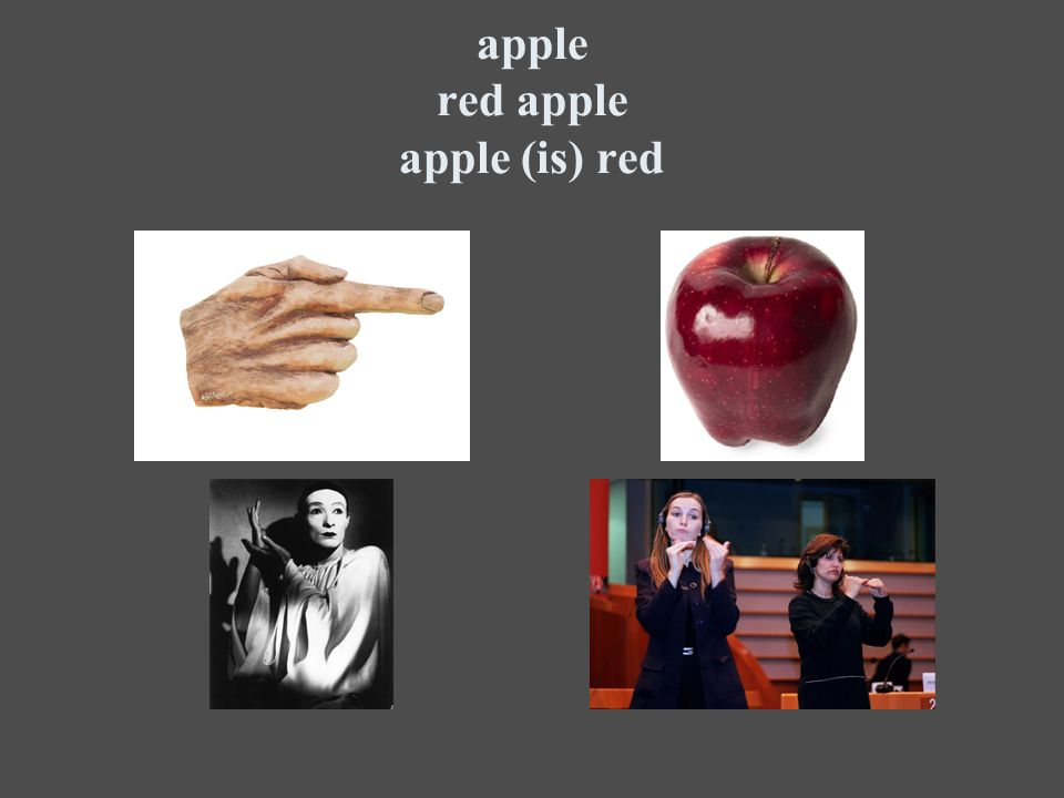 apple red apple apple (is) red