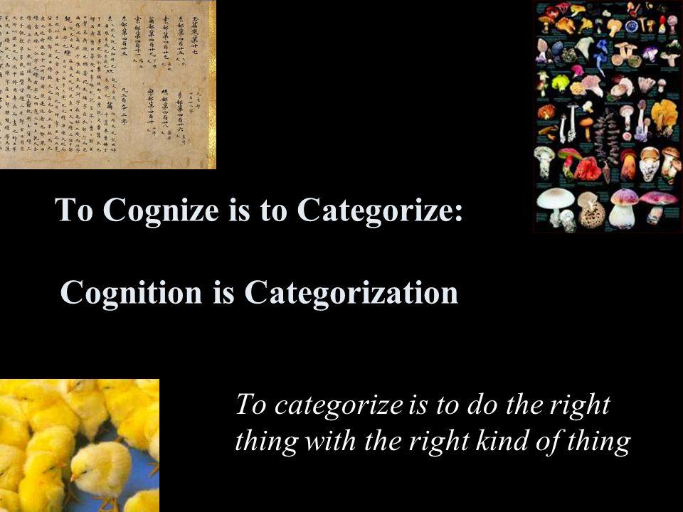 Innate Categories Evolved categories