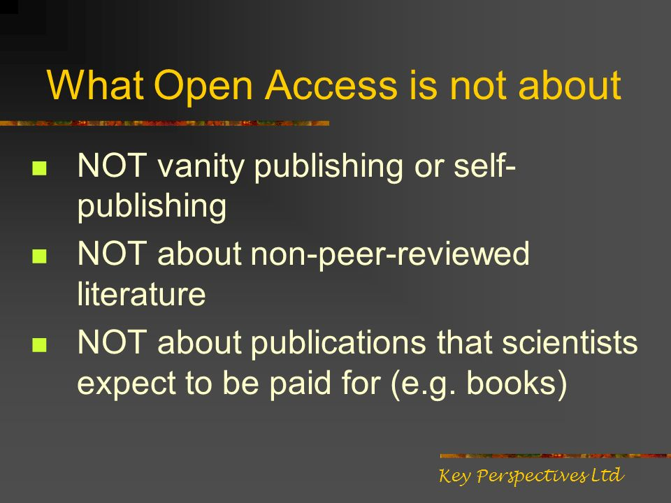 Who benefits from Open Access.