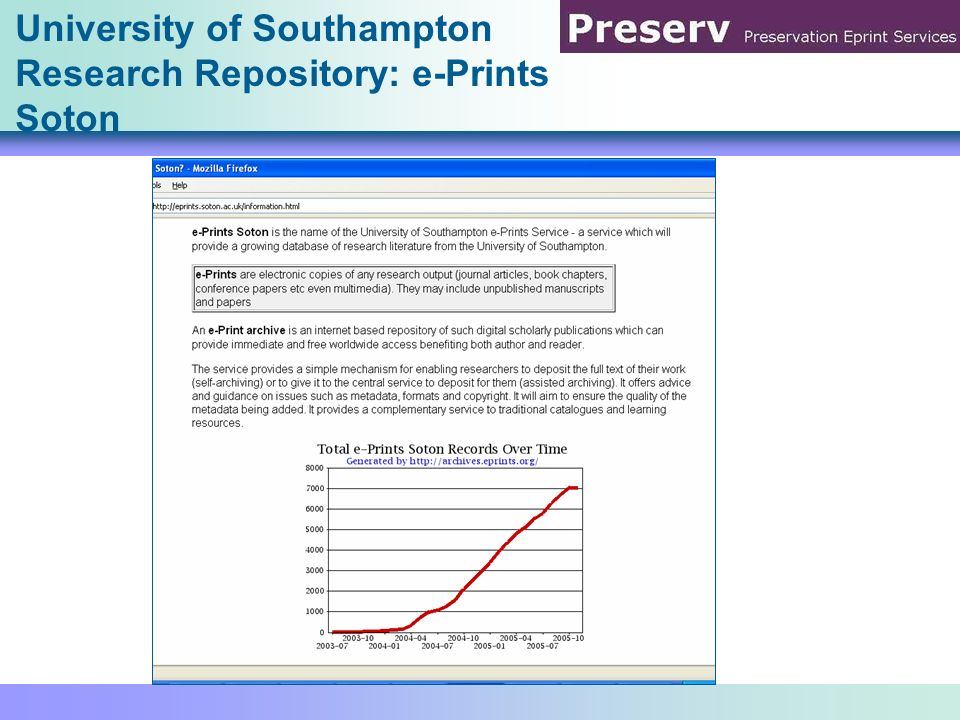 University of Southampton Research Repository: e-Prints Soton