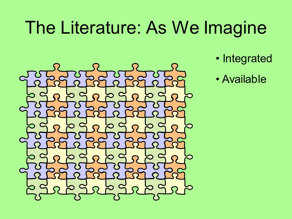 The Literature: As We Imagine Integrated Available