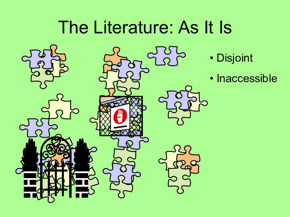 The Literature: As It Is Disjoint Inaccessible