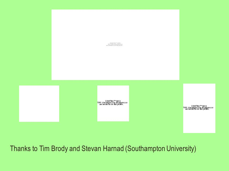 Thanks to Tim Brody and Stevan Harnad (Southampton University)