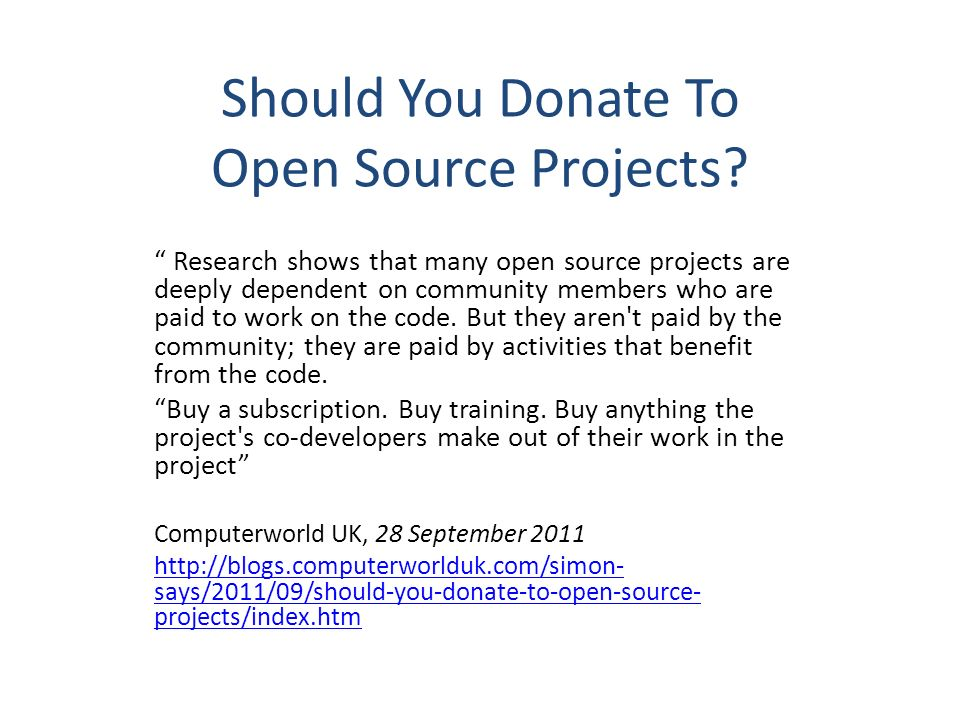 Should You Donate To Open Source Projects.
