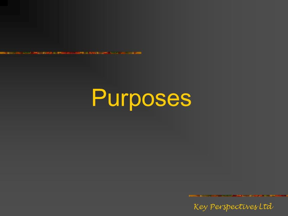 Purposes Key Perspectives Ltd