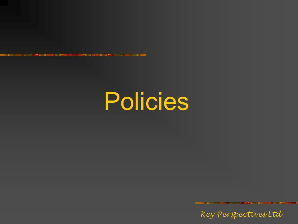 Policies Key Perspectives Ltd