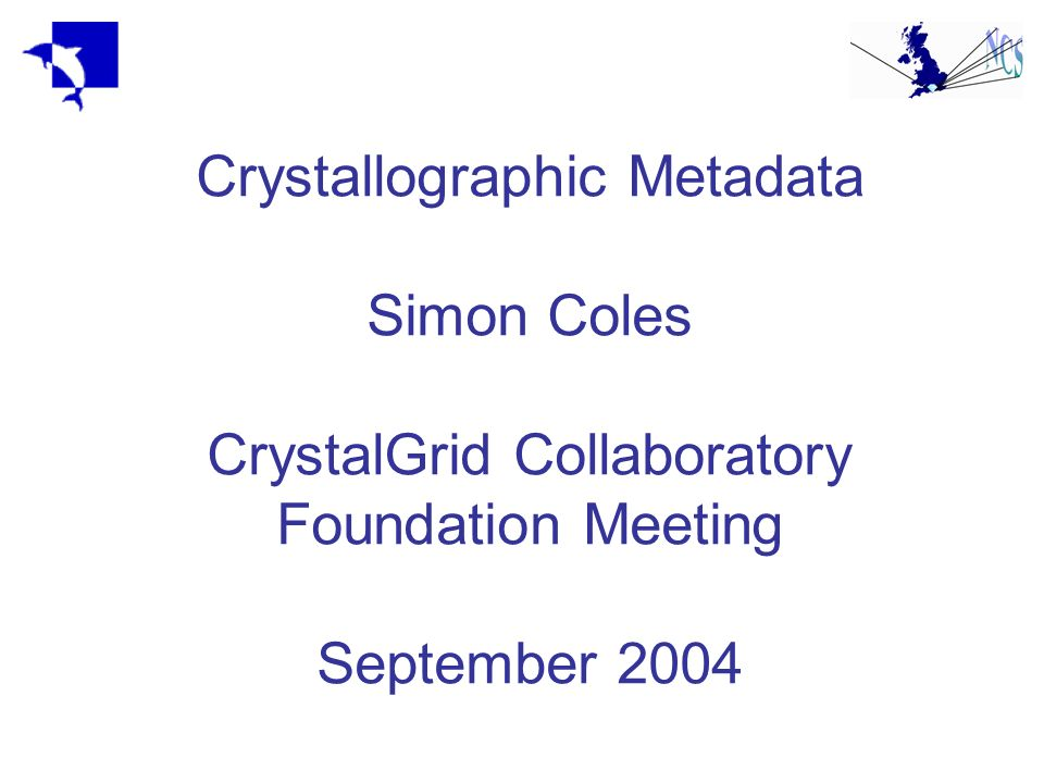 What is metadata.Where does crystallographic metadata come from.
