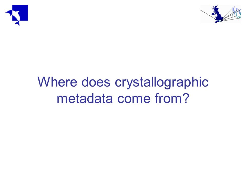 Where does crystallographic metadata come from