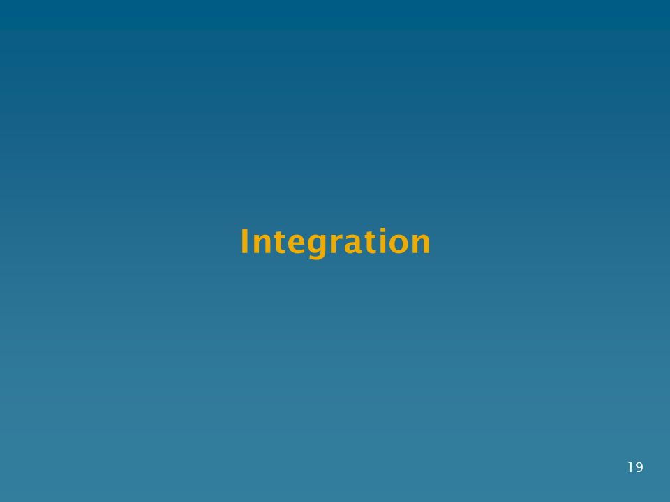 Integration 19