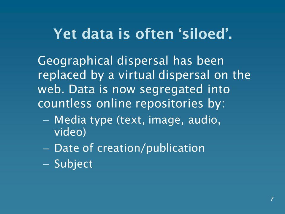 Yet data is often siloed.