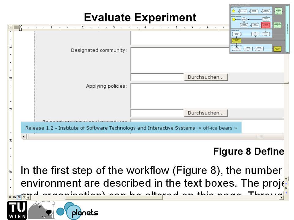 Evaluate Experiment