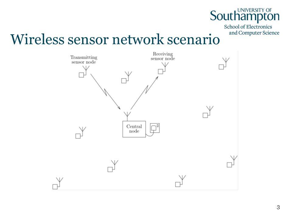 3 Wireless sensor network scenario