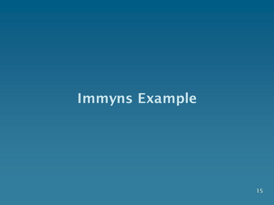 15 Immyns Example