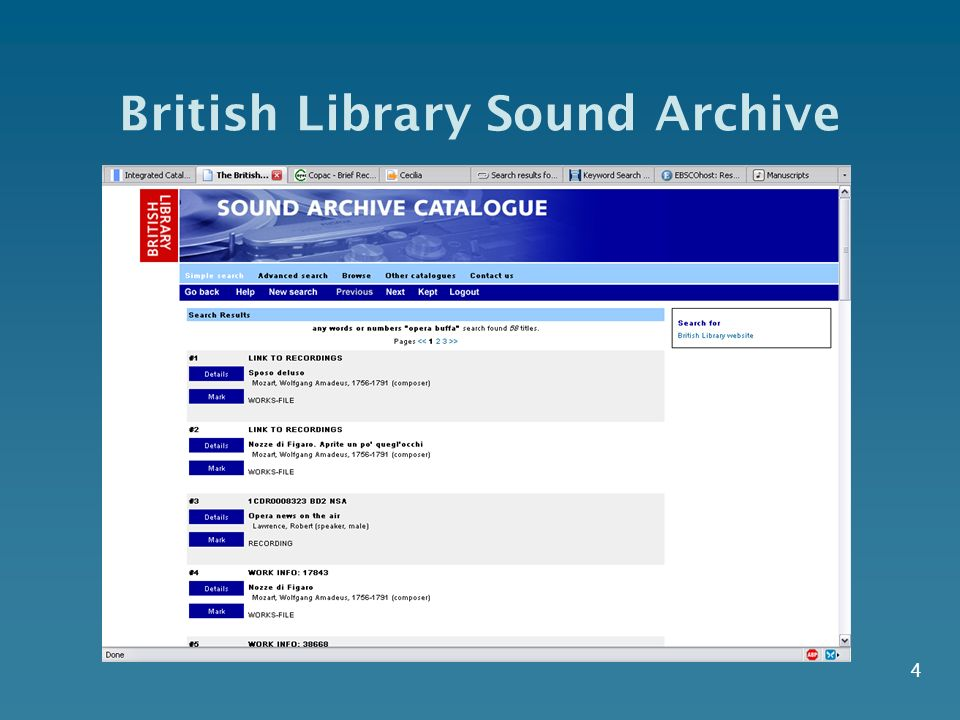 4 British Library Sound Archive