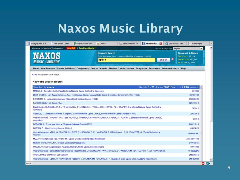 9 Naxos Music Library