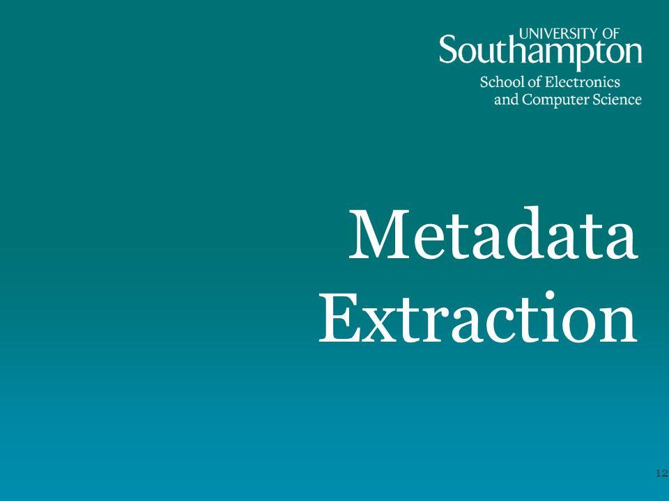Metadata Extraction 12