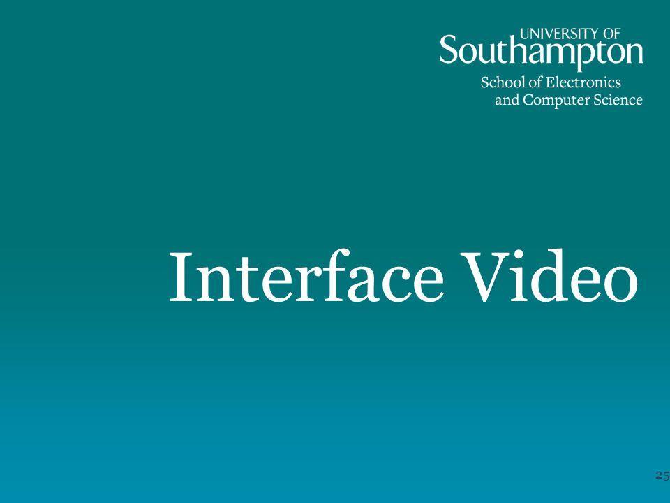 Interface Video 25