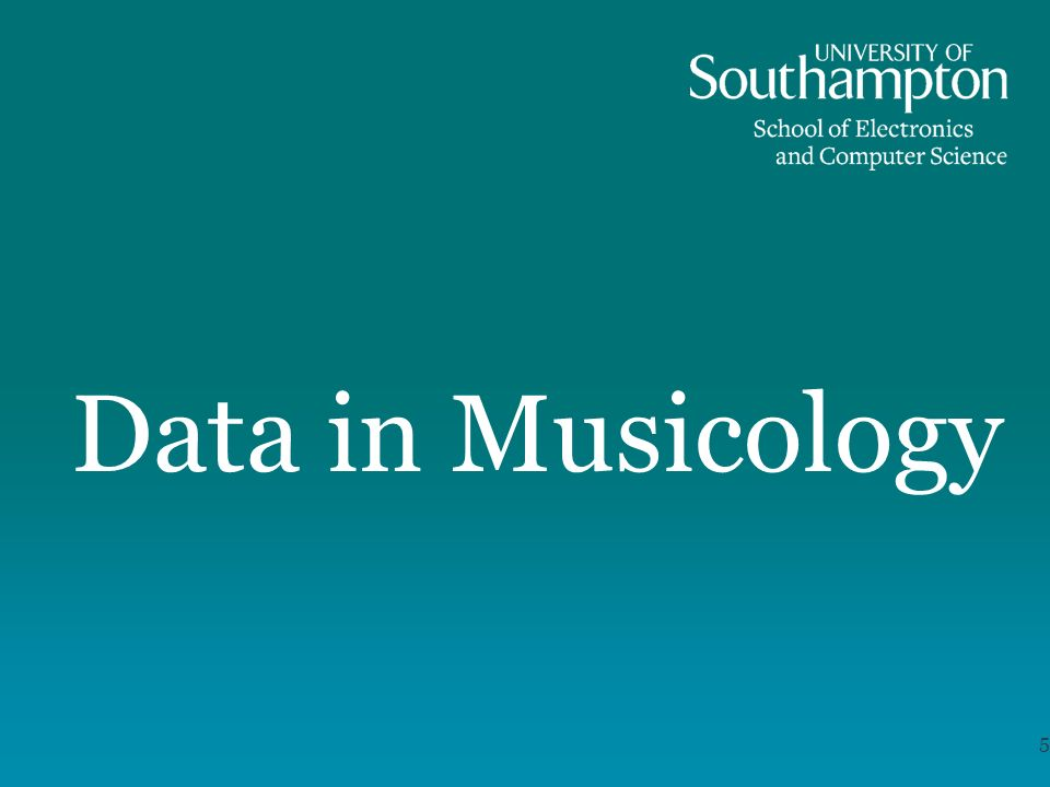 Data in Musicology 5