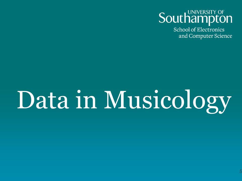 Data in Musicology 5