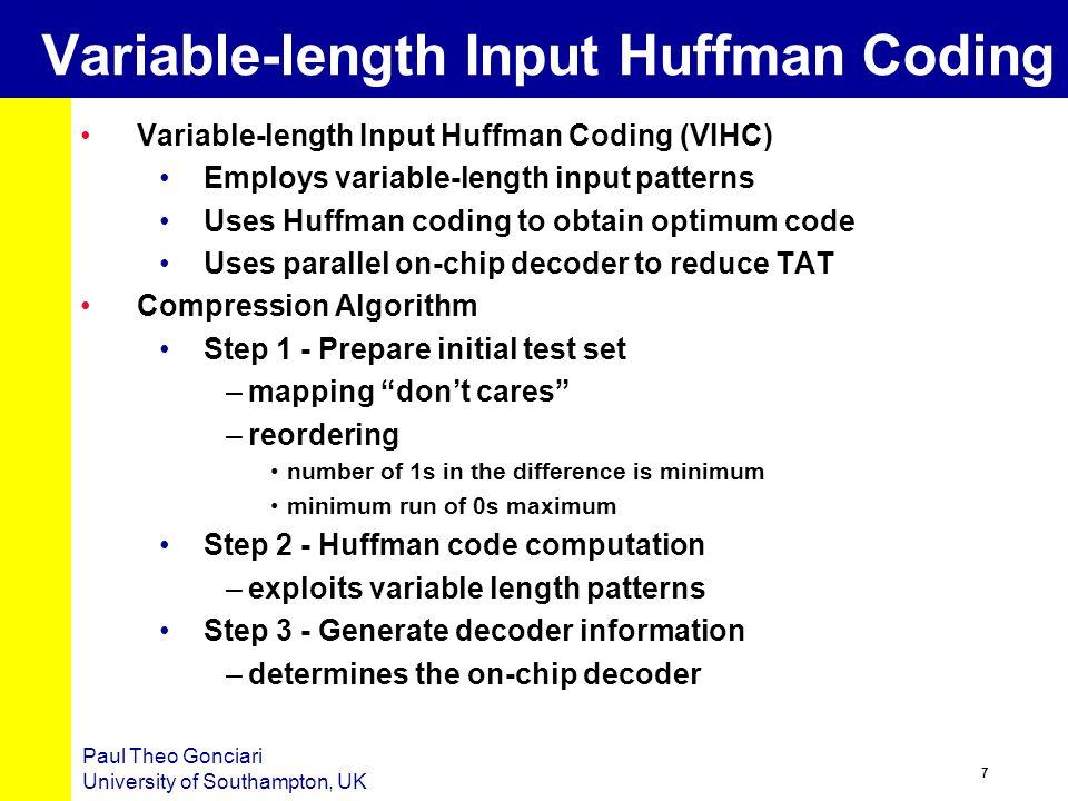 6 Paul Theo Gonciari University of Southampton, UK TDC – Previous Work Selective Coding (SC) [Jas et.