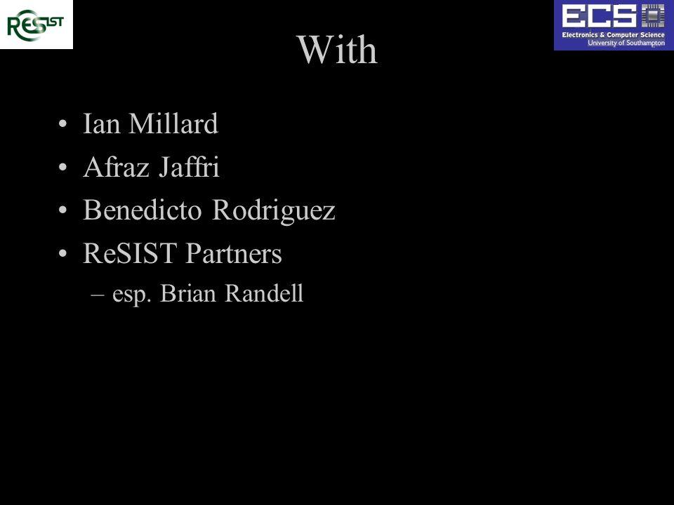 With Ian Millard Afraz Jaffri Benedicto Rodriguez ReSIST Partners –esp. Brian Randell