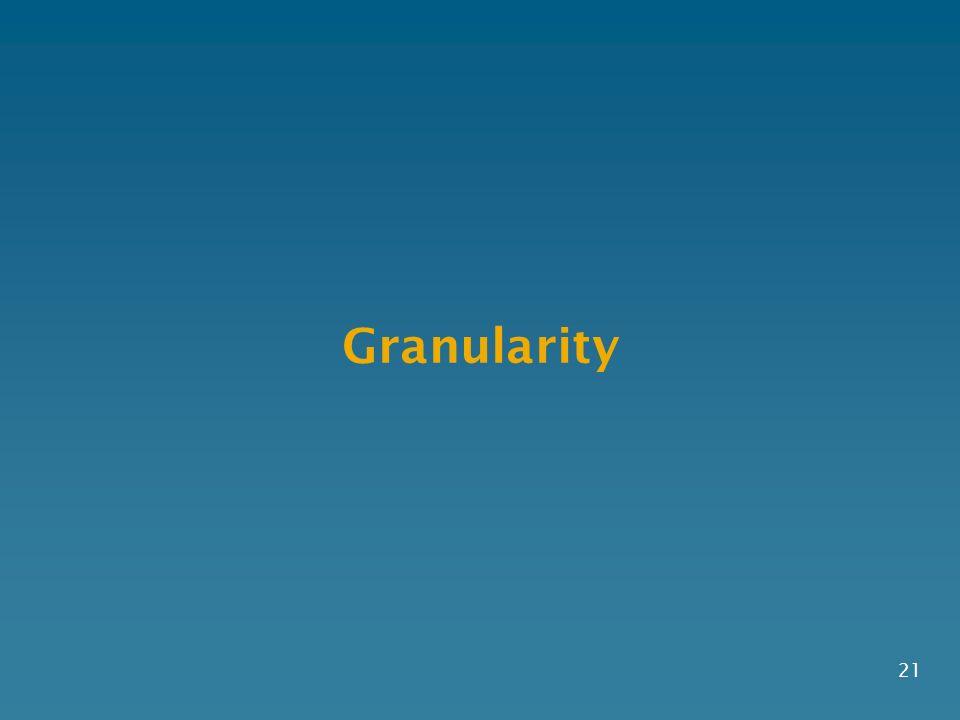 Granularity 21