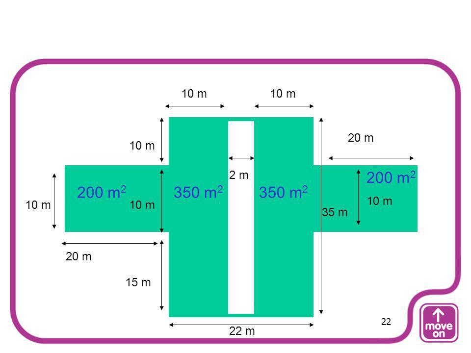 20 m 15 m 10 m 35 m 10 m 2 m 200 m 2 350 m 2 200 m 2 22 m 22
