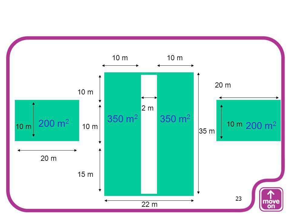 20 m 15 m 10 m 35 m 10 m 2 m 200 m 2 350 m 2 22 m 23