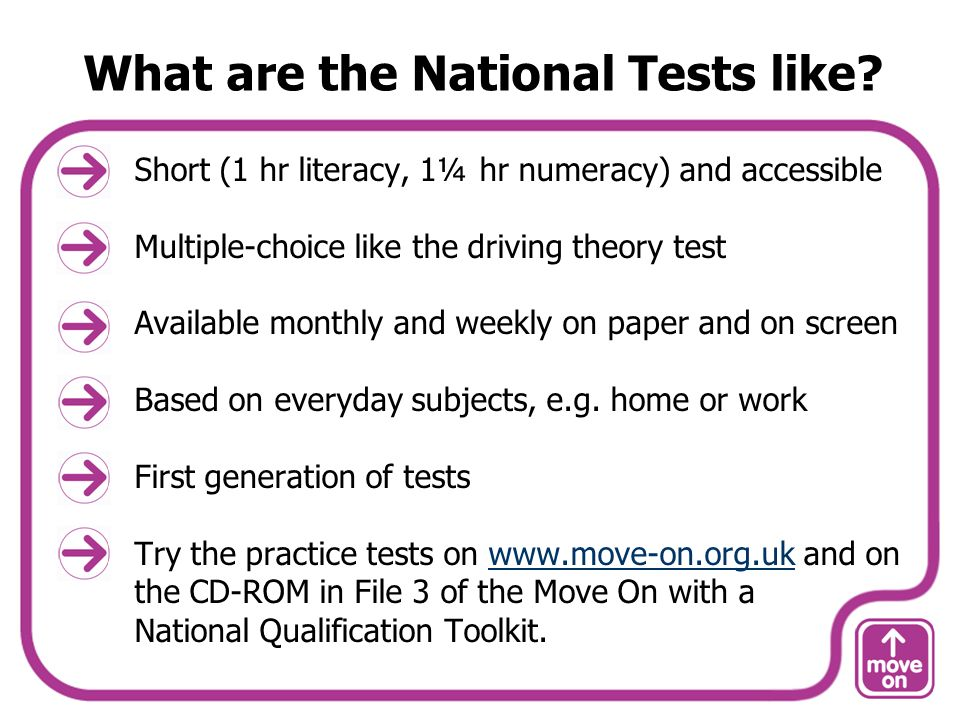 What are the National Tests like.