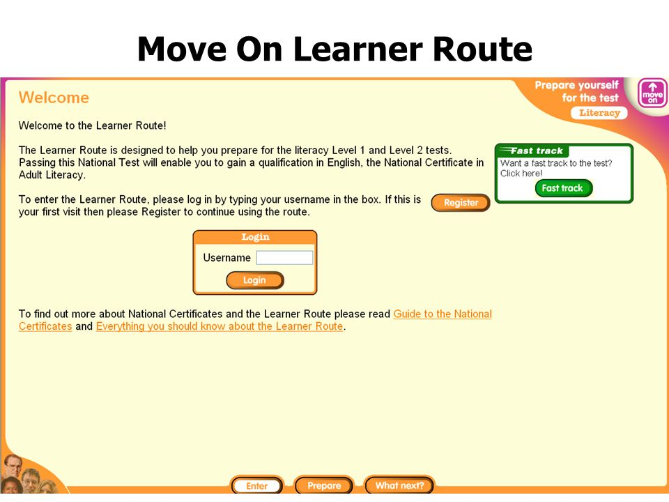Move On Learner Route