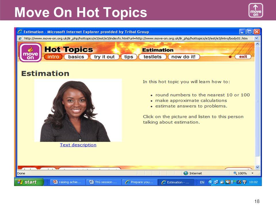 18 Move On Hot Topics