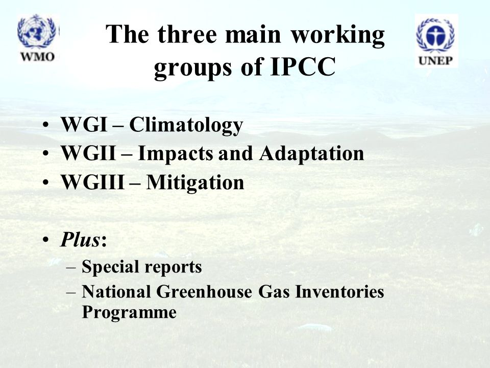 Outline What is the IPCC.