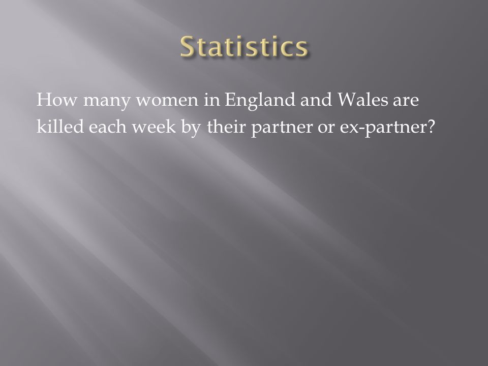 How many women in England and Wales are killed each week by their partner or ex-partner