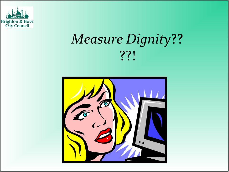 Measure Dignity !