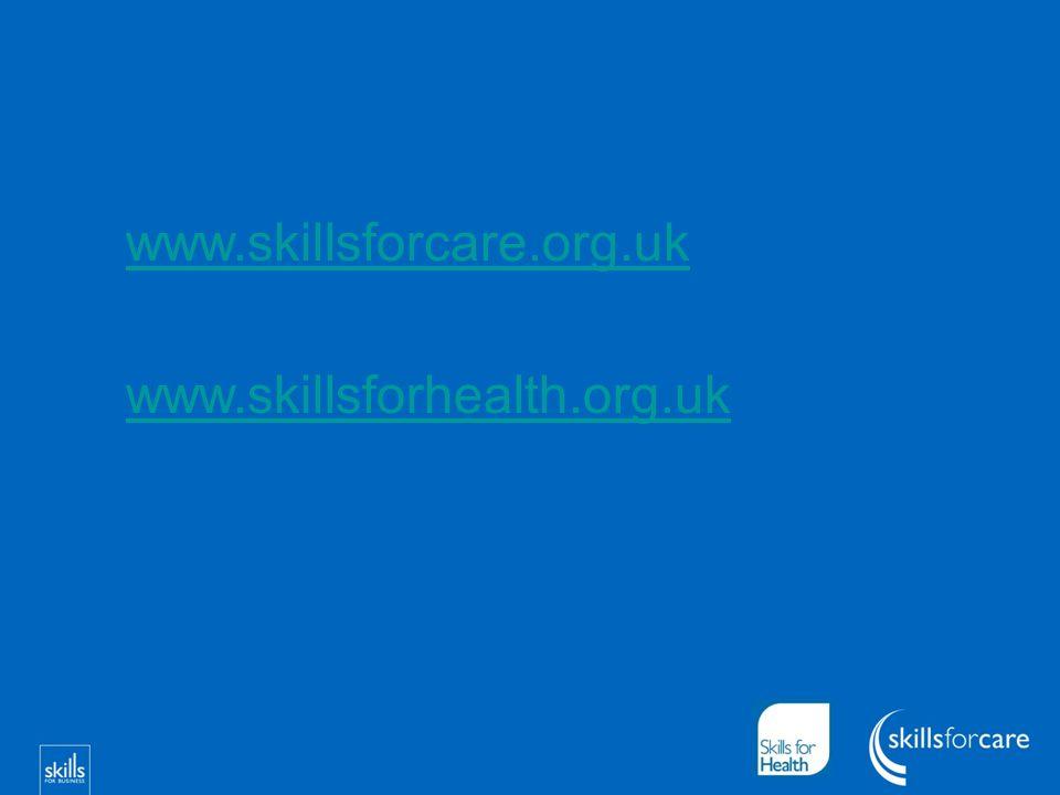 www.skillsforcare.org.uk www.skillsforhealth.org.uk