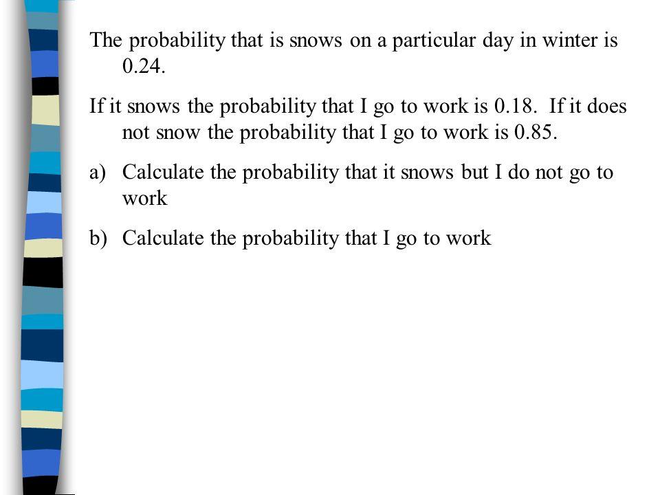 A discrete random variable has the following probability distribution X123456 P(X=x)0.20.150.20.30.10.05 Find a)P(1 < X < 5) b)P(2 X 4) c)P(3 < X 6) d)P(X < 3)