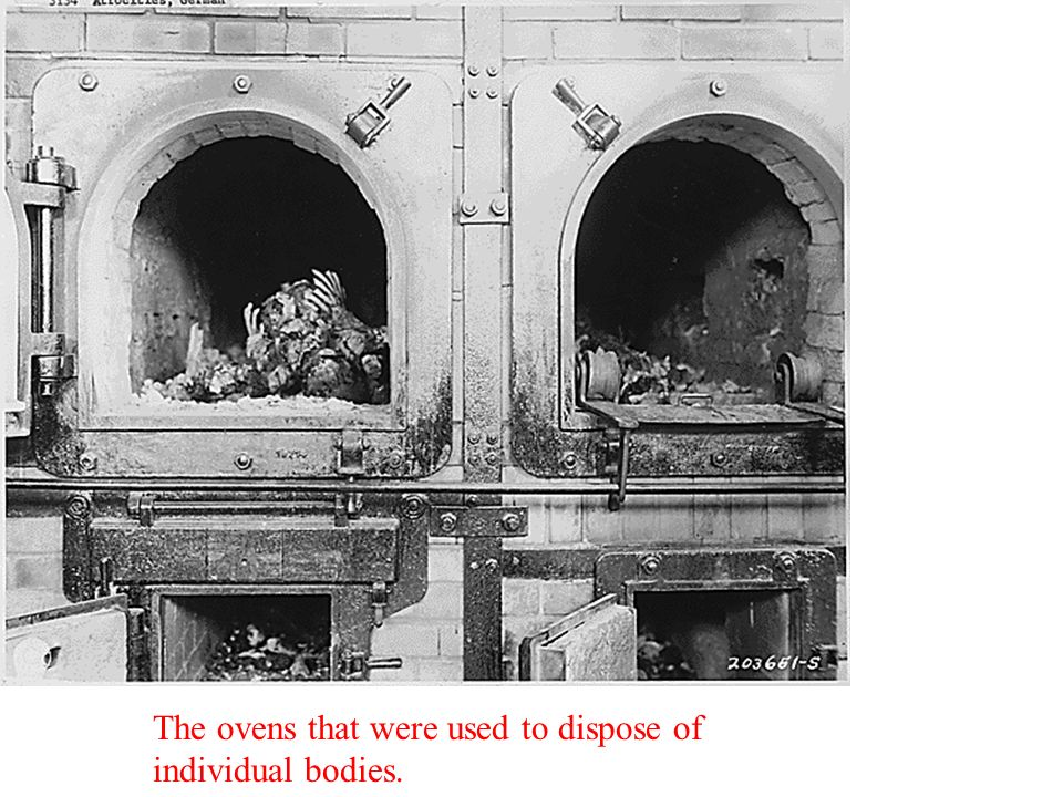 The ovens that were used to dispose of individual bodies.