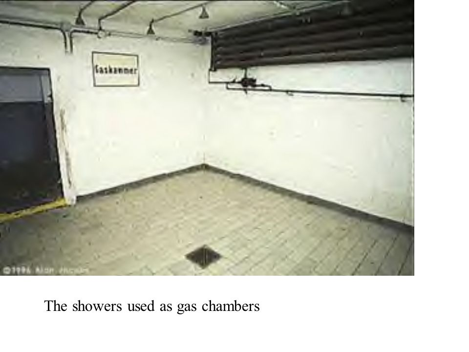 The showers used as gas chambers