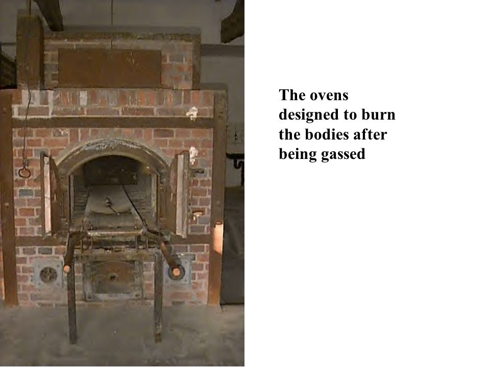 The ovens designed to burn the bodies after being gassed