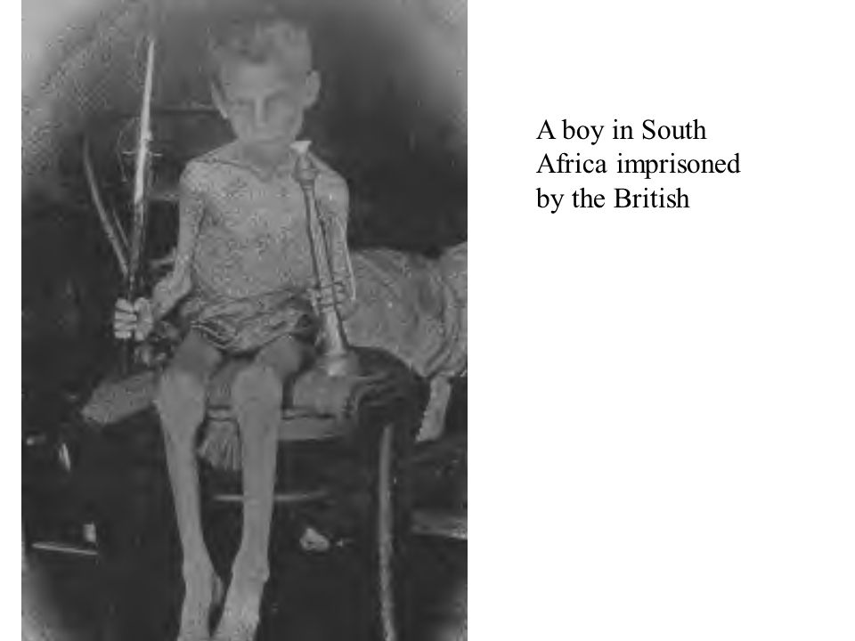 A boy in South Africa imprisoned by the British