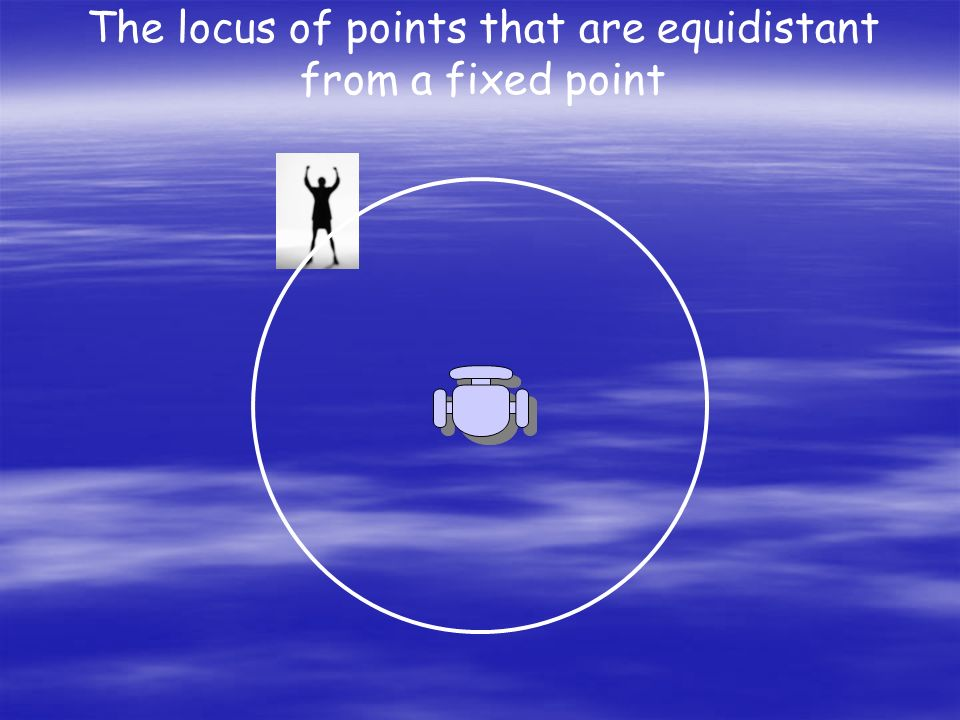 The locus of points that are equidistant from a fixed point